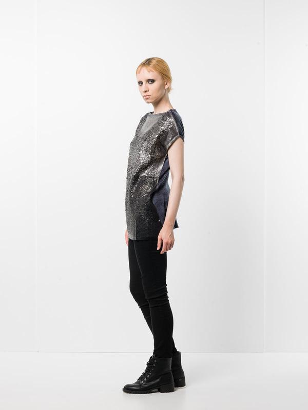 Avant Toi:  - Sleeveless sequined top