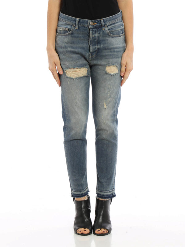 Straight leg ripped jeans by Golden Goose - straight leg jeans | iKRIX