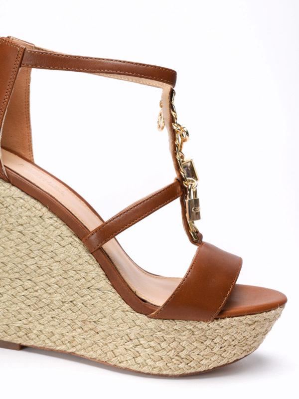 iKRIX Michael Kors:  - Suki wedge leather sandals
