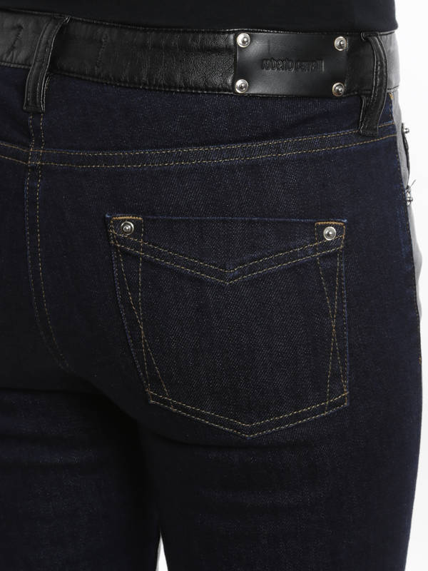 iKRIX Roberto Cavalli: Leather front jeans