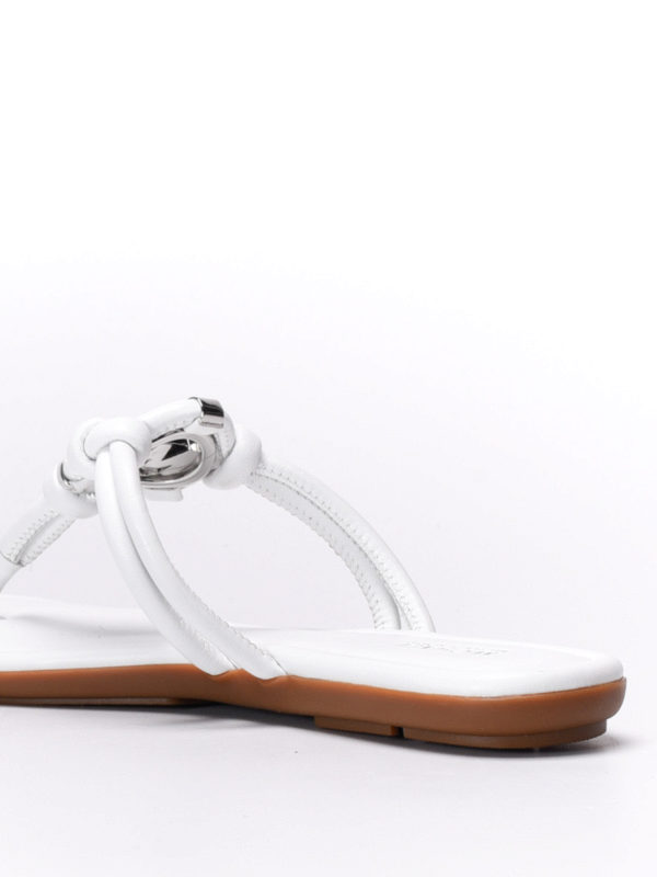 Kinley leather thong sandals shop online: Michael Kors