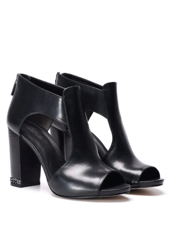 Michael Kors:  online - Sabrina open toe ankle boots