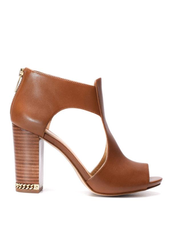 Michael Kors:  - Sabrina open toe ankle boots