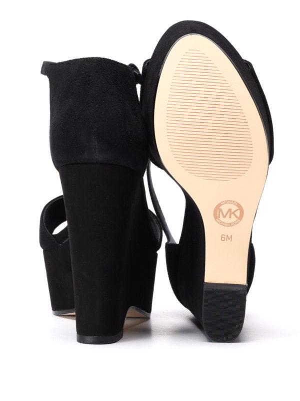 Michael Kors buy online Claire wedge suede sandals