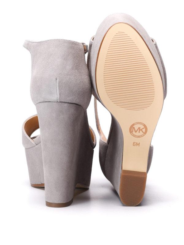 Michael Kors buy online Claire wedge suede sandals