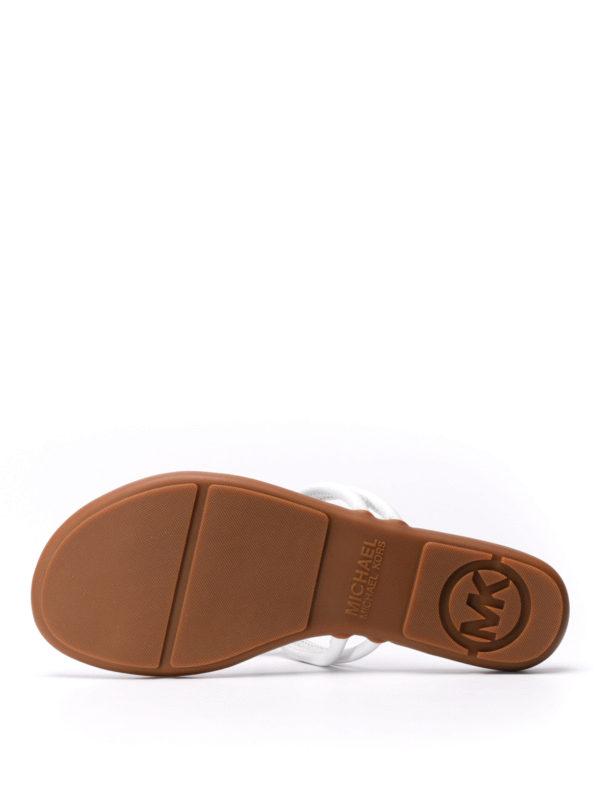 Michael Kors buy online Kinley leather thong sandals