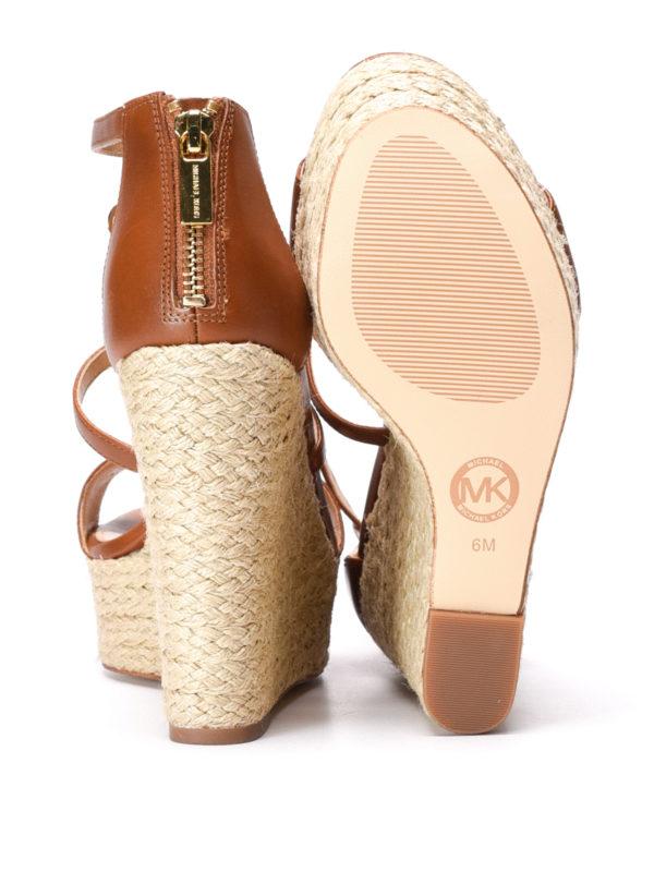 Michael Kors buy online Suki wedge leather sandals