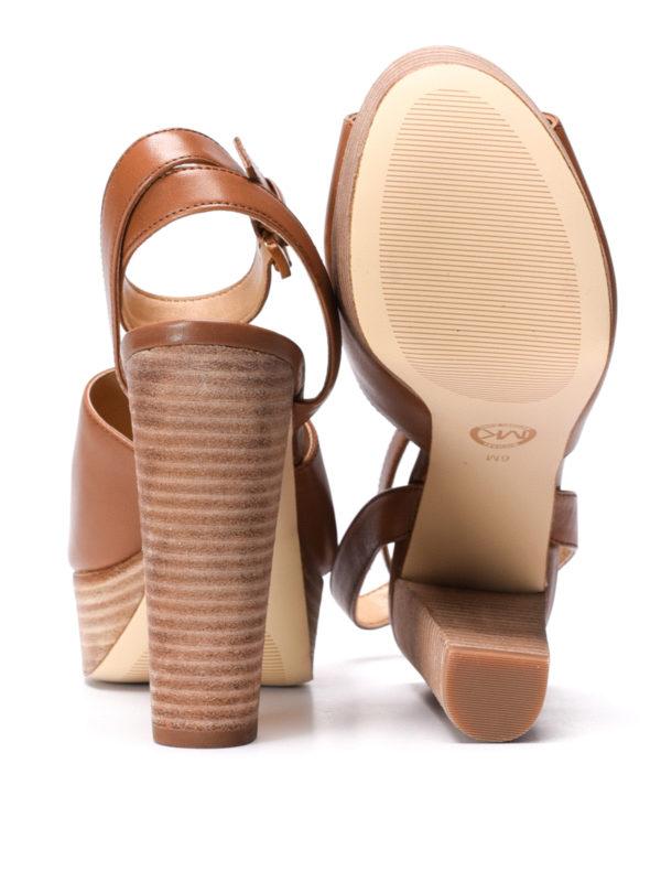 Michael Kors buy online Trina platform leather sandals