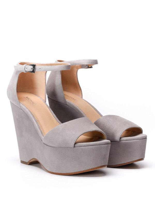 Michael Kors:  online - Claire wedge suede sandals