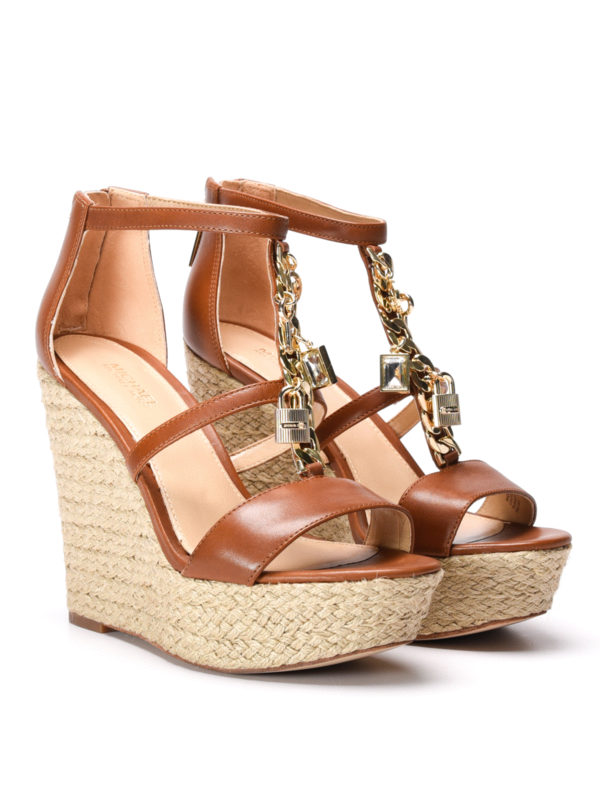 Michael Kors:  online - Suki wedge leather sandals