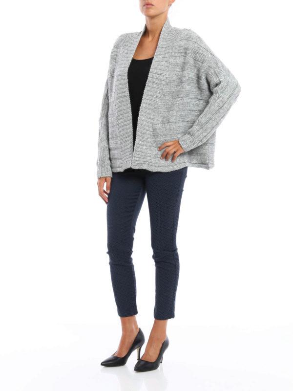Wool and alpaca crop cardigan shop online: Manila Grace