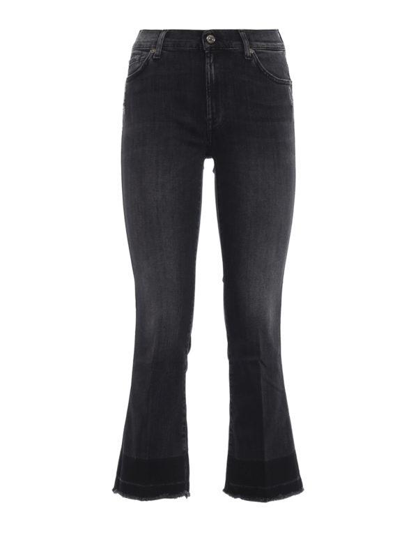 7 FOR ALL MANKIND: Straight Leg Jeans - Straight Leg Jeans - Dunkelgrau