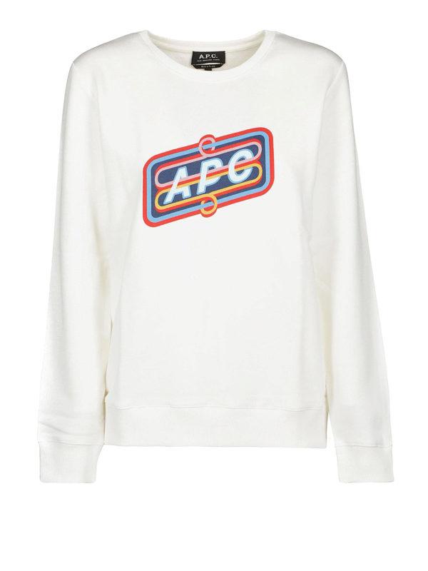 A.P.C.: Sweatshirts und Pullover - Sweatshirt - Weiß