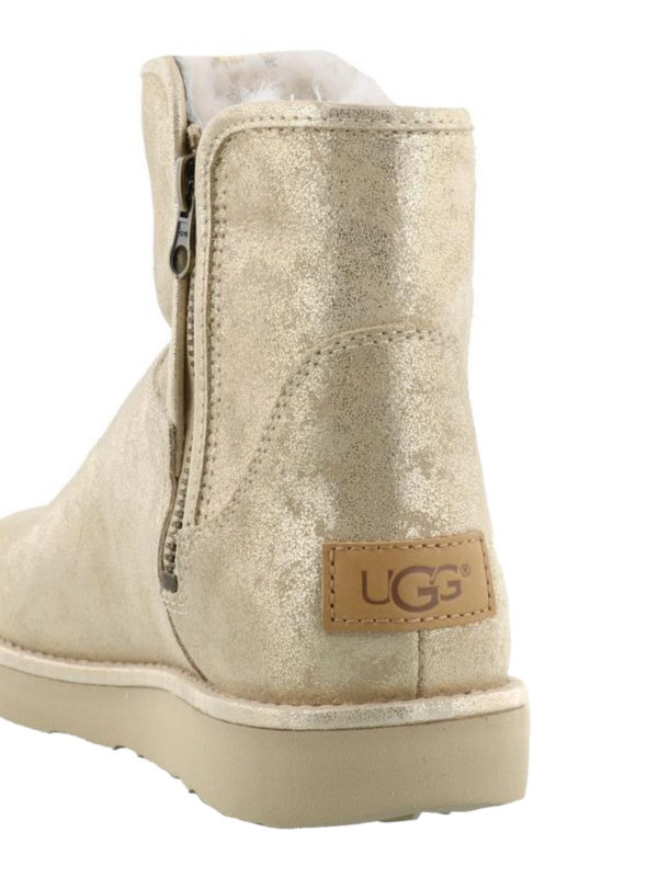 Ugg Abree Mini Stardust Gold Booties Ankle Boots