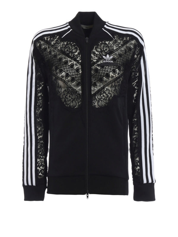 cheap release info on undefeated x Adidas by Stella McCartney - See-through lace detail black ...
