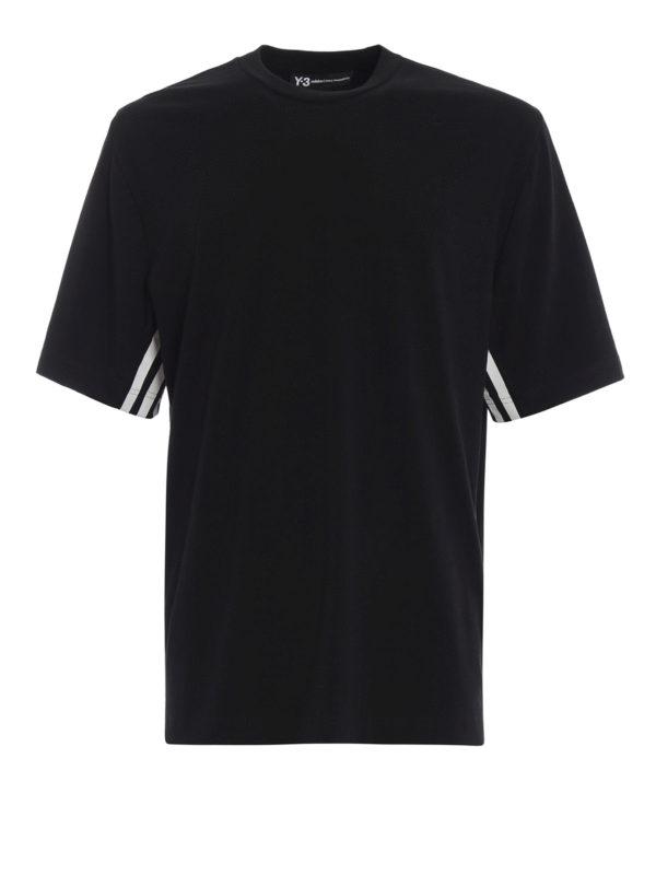 ADIDAS Y-3: T-shirts - T-Shirt - Schwarz