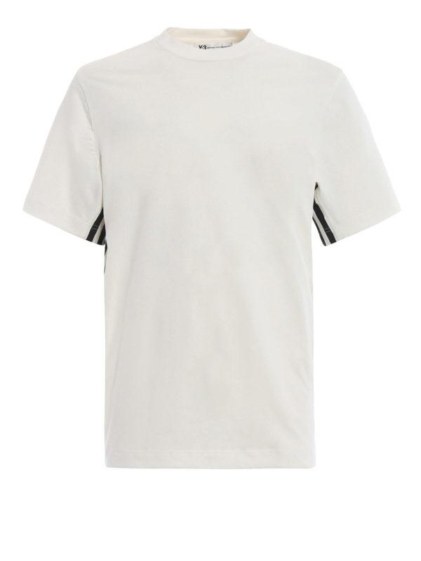 ADIDAS Y-3: T-shirts - T-Shirt - Weiß