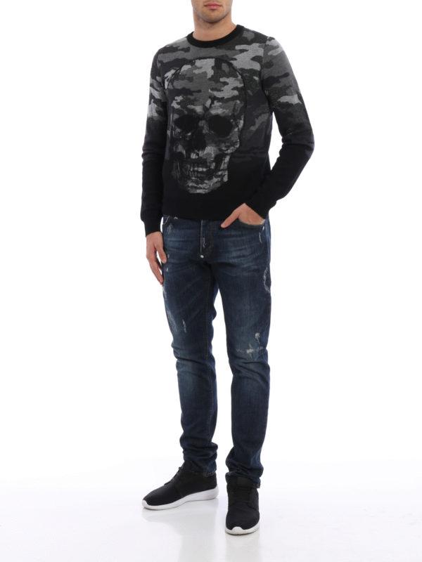 Straight Leg Jeans - Dark Wash shop online: Philipp Plein