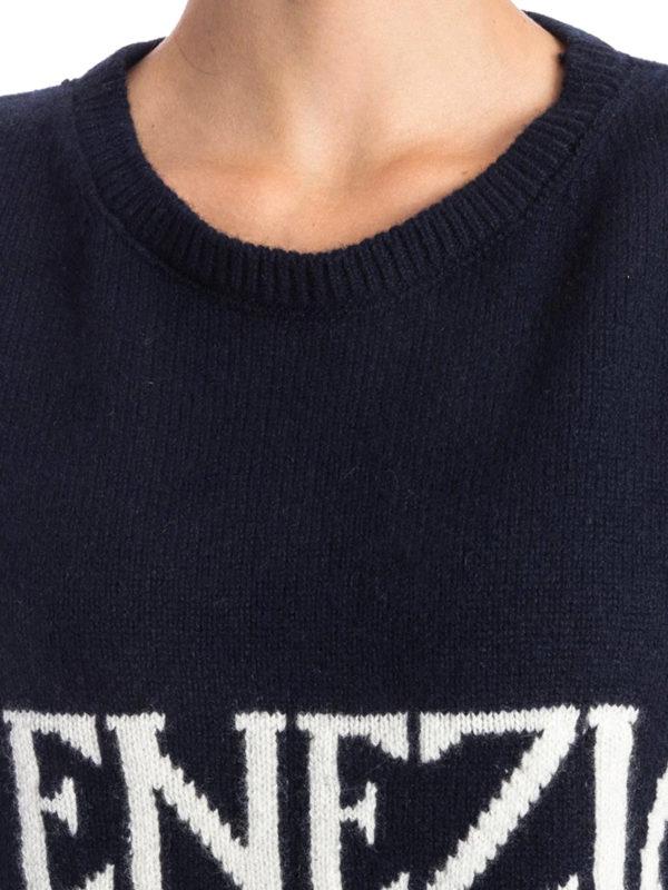 Alberta Ferretti buy online Rundhalspullover - Dunkelblau