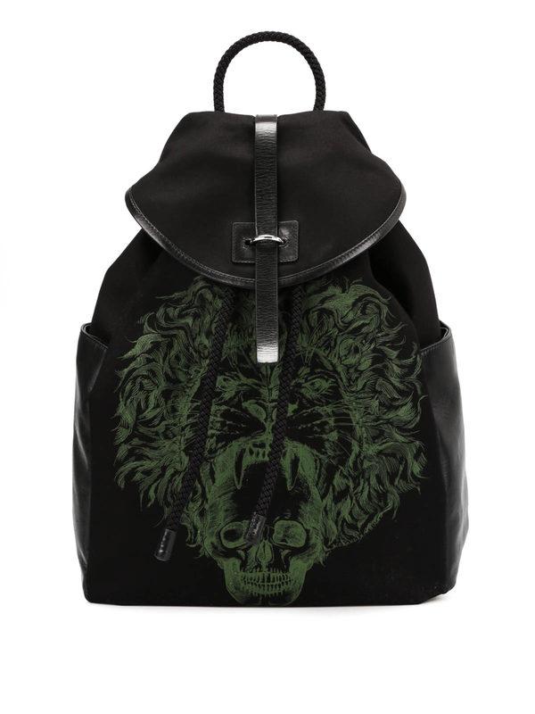 ALEXANDER MCQUEEN: backpacks - Skull print backpack