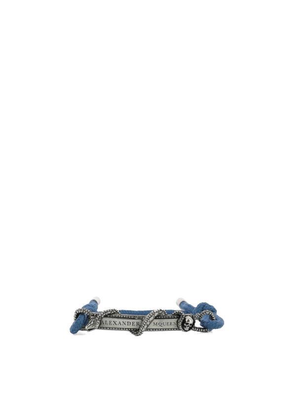 ALEXANDER MCQUEEN: Armbaender und Armkettchen - Armband - Blau