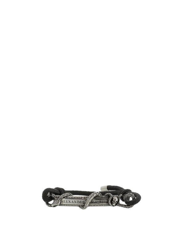 ALEXANDER MCQUEEN: Armbaender und Armkettchen - Armband - Schwarz