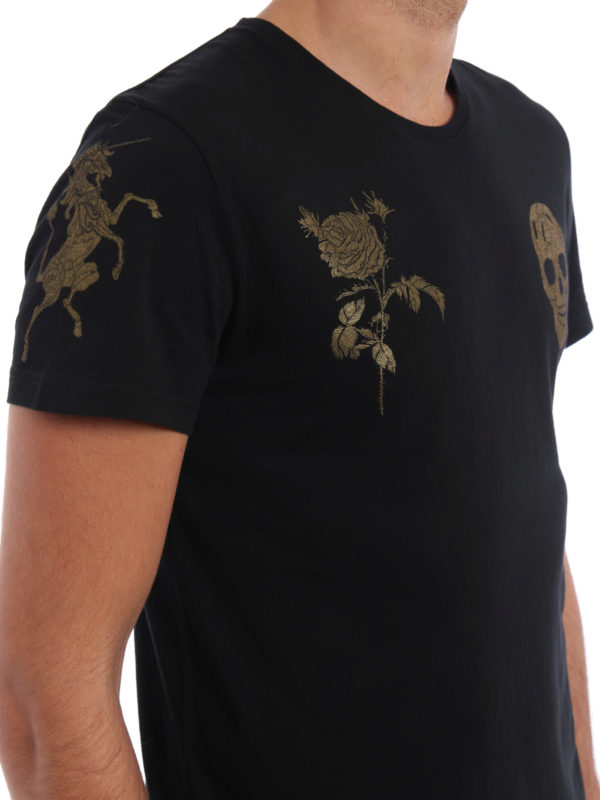 ALEXANDER MCQUEEN buy online T-Shirt - Gemustert