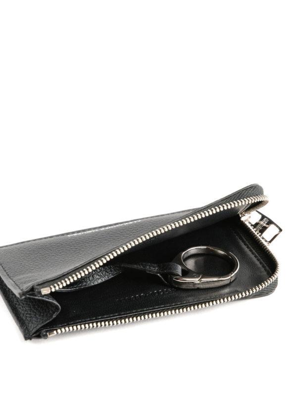 ALEXANDER MCQUEEN buy online Grain leather zipped coin case