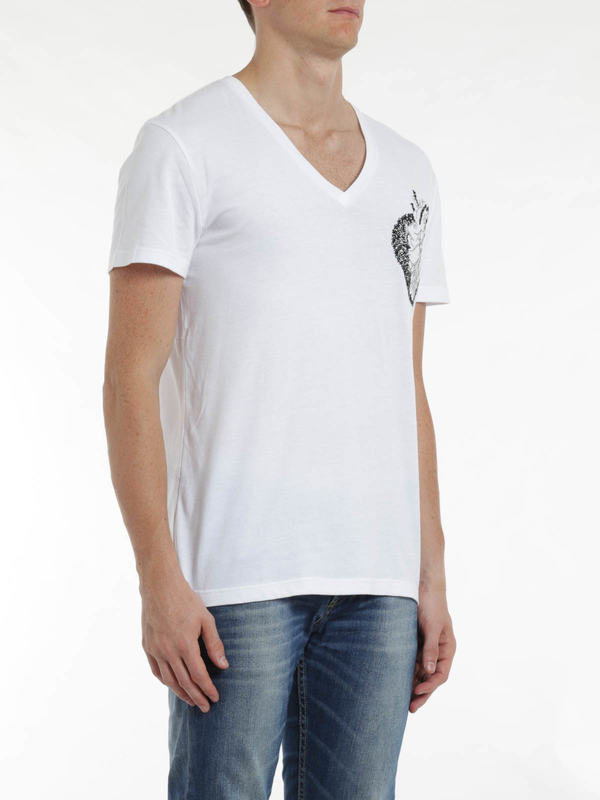 ALEXANDER MCQUEEN buy online Heart embroidery t-shirt