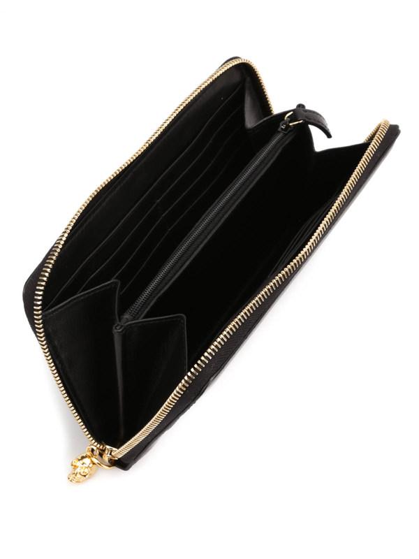ALEXANDER MCQUEEN buy online Ribcage zip around wallet