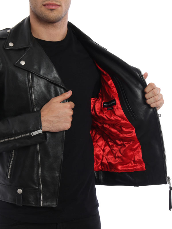 ALEXANDER MCQUEEN buy online Lederjacke - Einfarbig