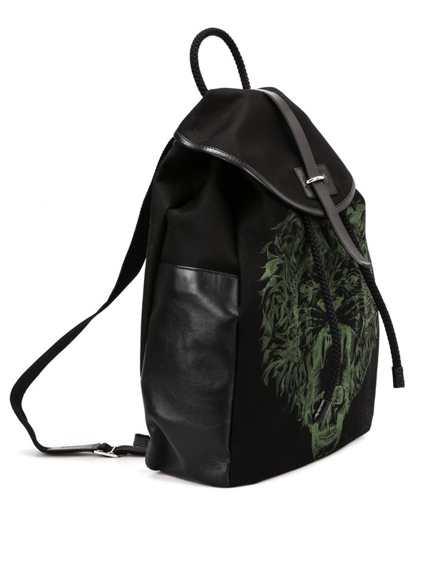 ALEXANDER MCQUEEN: backpacks online - Skull print backpack
