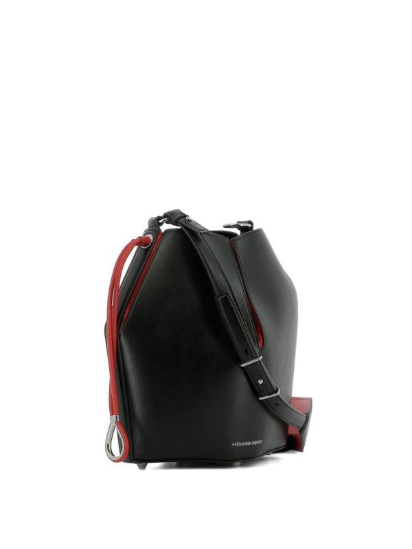 ALEXANDER MCQUEEN: Bucket-bags online - Bucket-Bag - Schwarz
