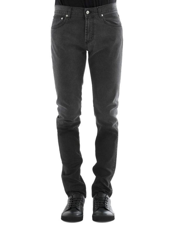 ALEXANDER MCQUEEN: Straight Leg Jeans online - Straight Leg Jeans - Einfarbig