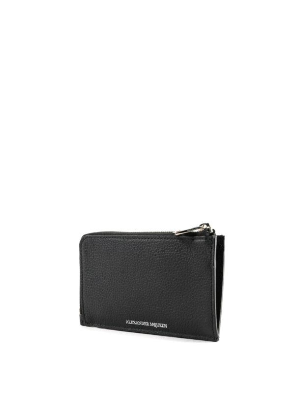 ALEXANDER MCQUEEN: wallets & purses online - Grain leather zipped coin case