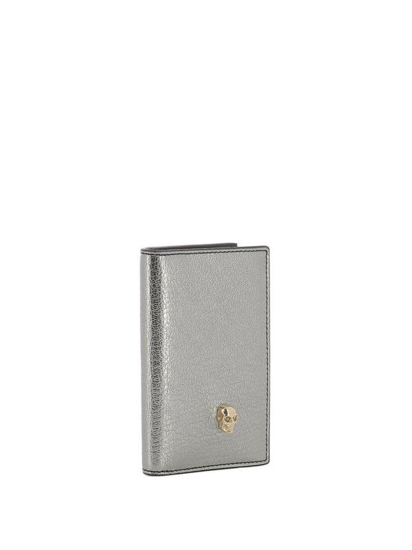 ALEXANDER MCQUEEN: Portemonnaies und Geldbörsen online - Portemonnaie - Silber