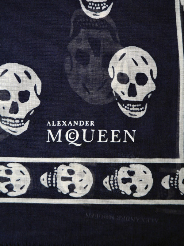 Alexander Mcqueen: Bufandas y pañuelos online - Bufanda - Azul