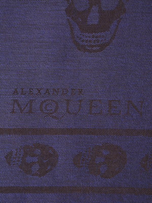 Alexander Mcqueen: Schals online - Schal - Blau