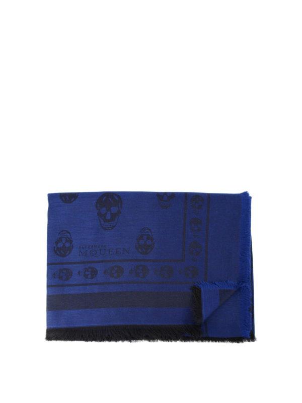 Alexander Mcqueen: Schals - Schal - Blau