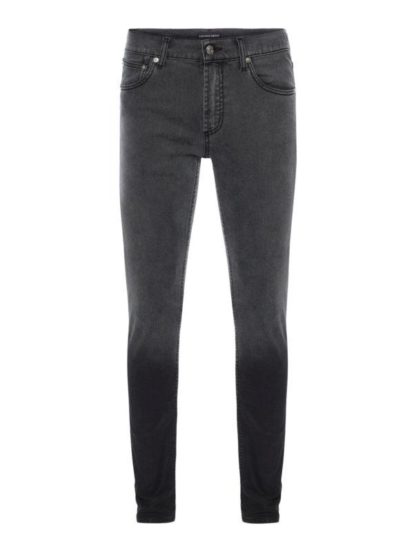 ALEXANDER MCQUEEN: Straight Leg Jeans - Straight Leg Jeans - Einfarbig