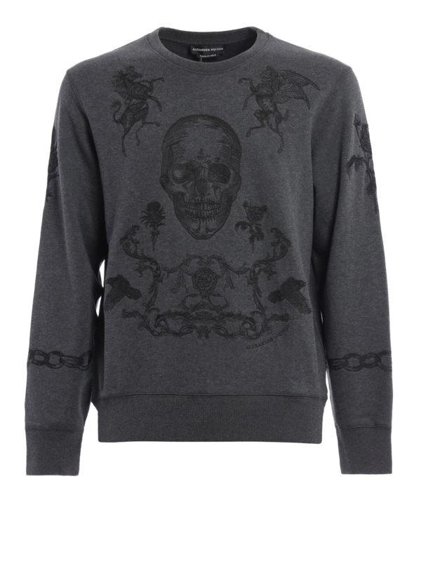 Alexander Mcqueen: Sweatshirts und Pullover - Sweatshirt - Dunkelgrau