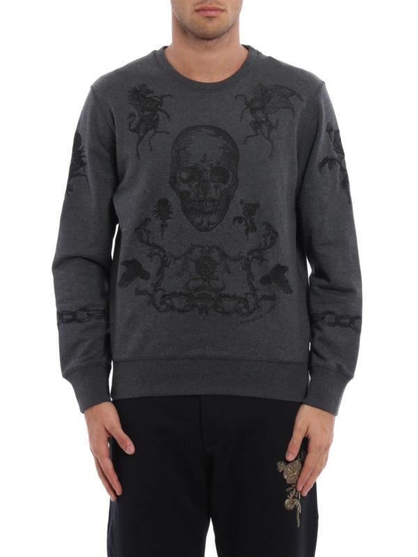 Alexander Mcqueen: Sweatshirts und Pullover online - Sweatshirt - Dunkelgrau