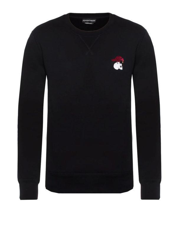 ALEXANDER MCQUEEN: Sweatshirts und Pullover - Sweatshirt - Schwarz