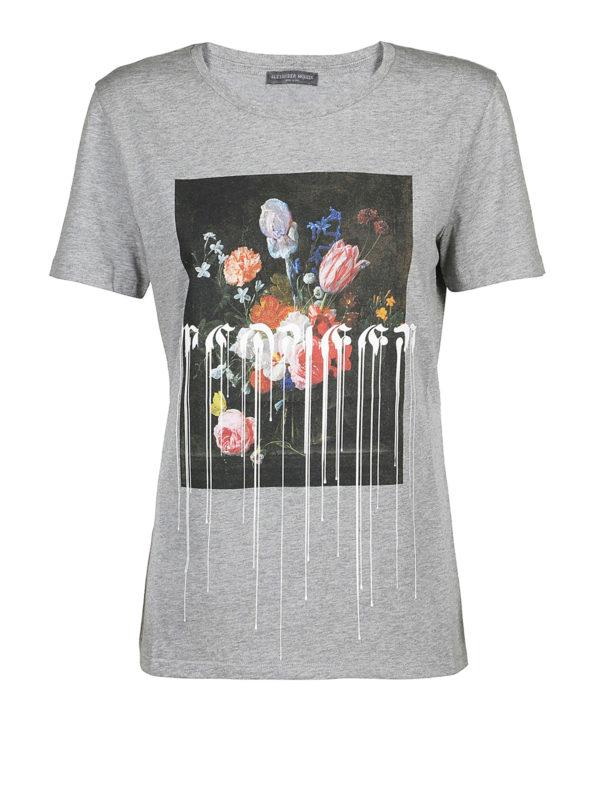 ALEXANDER MCQUEEN: T-shirts - T-Shirt - Grau