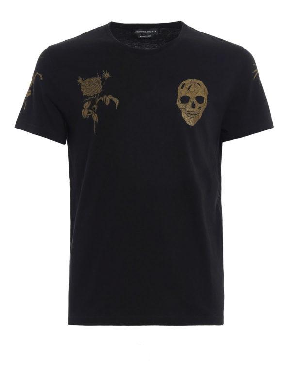 ALEXANDER MCQUEEN: T-shirts - T-Shirt - Gemustert