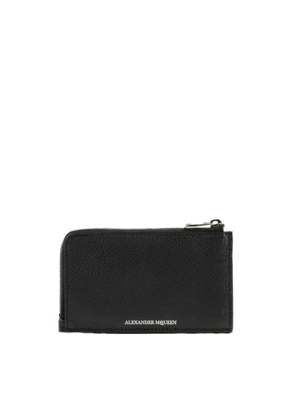 ALEXANDER MCQUEEN: wallets & purses - Grain leather zipped coin case