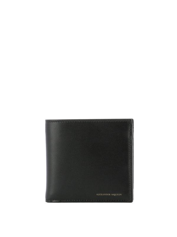 ALEXANDER MCQUEEN: Portemonnaies und Geldbörsen - Portemonnaie - Einfarbig