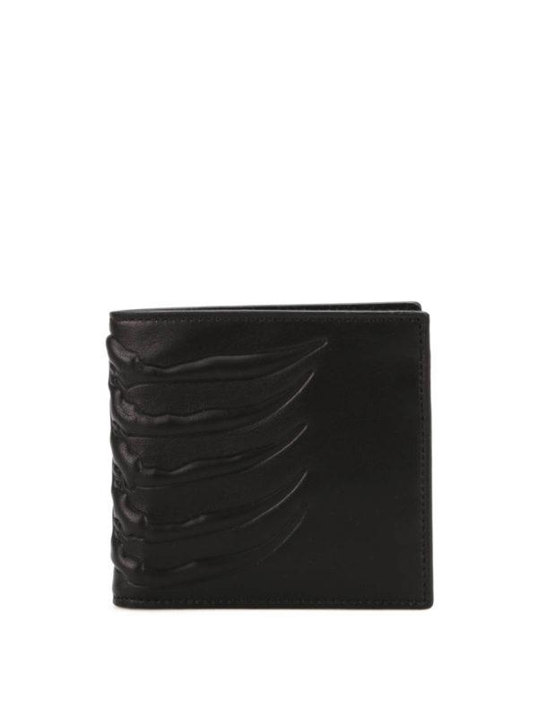 ALEXANDER MCQUEEN: wallets & purses - Ribcage bifold wallet