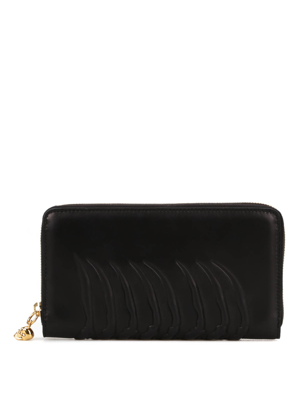ALEXANDER MCQUEEN: wallets & purses - Ribcage zip around wallet