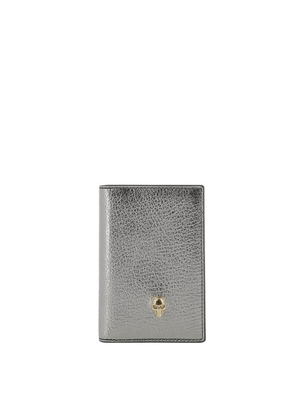 ALEXANDER MCQUEEN: Portemonnaies und Geldbörsen - Portemonnaie - Silber